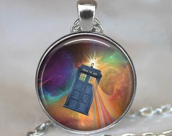 Tardis Time Wave pendant, Tardis jewelry, Dr Who jewelry, Tardis pendant Dr Who pendant, Whovian jewelry Tardis key ring key fob key chain