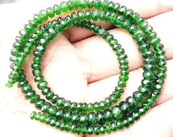 "Natural Chrome diopside faceted beads ,3 mm -- 5 mm ,15""strand[E0006]"