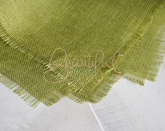Olive Green Burlap Layering Blanket Natural Organic Newborn Photography Prop