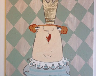 Acrylic painting collage Princess