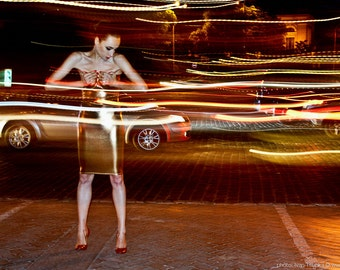 """Giclee print of artwork from """"Flashing Lights""""  photography series by Ivan Tsupka. Perfect contemporary wall art for home and office."""