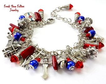 medieval times weapons charm bracelet