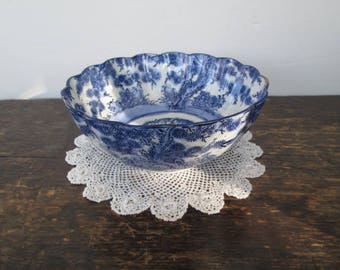 Antique Japanese Blue and White Rice Bowl