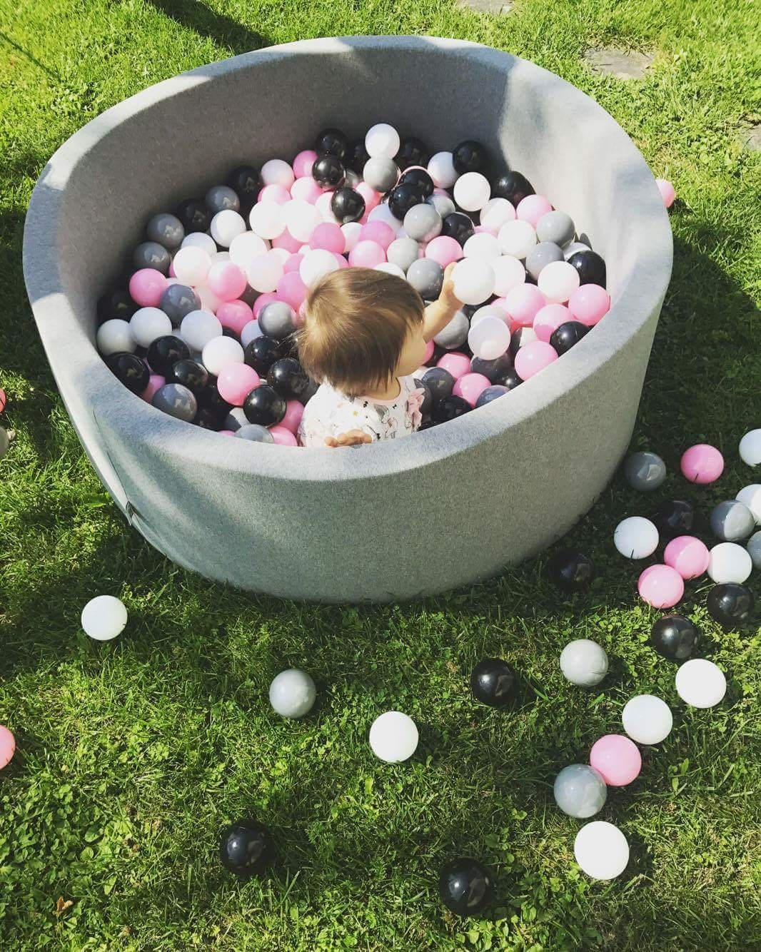 ball pit / big XL dark grey ball pit / ball pit for kids /