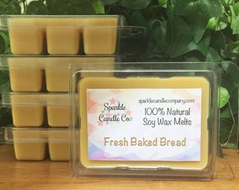 Fresh Baked Bread Soy Wax Melts - Hand Poured Wax Tarts - Scented Wax Melts - 1 Package