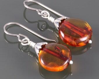 Genuine Amber Earrings. Titanium Ear Wires. Lightweight Earrings. f16e090