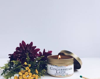 GINGERBREAD LATTE Soy Candle | Candle Tin | Travel Candle
