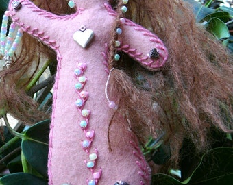 Self Care Healing Art Doll, Chakra Doll, Spirit Doll, Medicine Doll