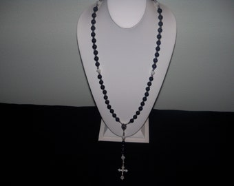 A Beautiful/Wearable Blue Goldstone Rosary. (201812)