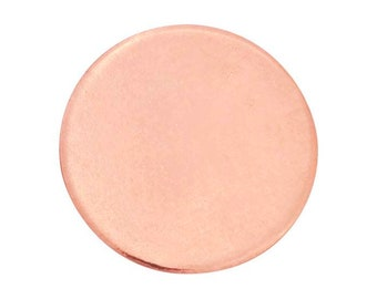 """10 pieces Rose gold filled discs - 5/8""""- 15.9mm - 24 ga - dead soft - stamping blanks"""