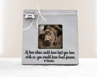 Personalized Pet Picture Frame, Pet Name Frame, Pet Lover Gift Idea, Pet Memory Frame, Pet Loss Gift