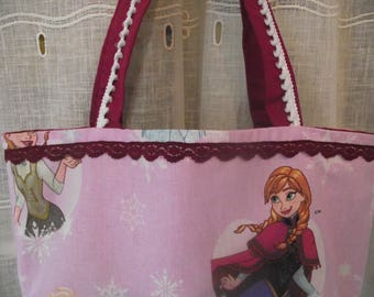 """Tote bag pink """"Of the snow Queen"""""""