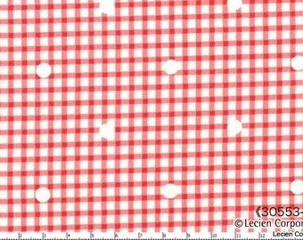 Hill Farm - Red Rose Gingham by Brenda Riddle for Moda Fabrics