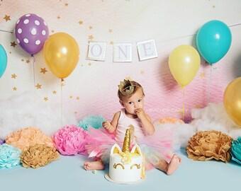 Unicorn Baby Girl 1st Birthday Outfit | Baby Tutu | Tutu Dress | Birthday Dress | Baby Girls Cake Smash Outfits | Birthday Tutu