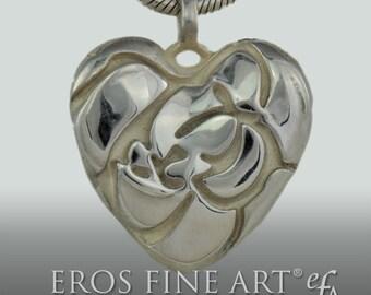Herzanhänger Rose Heart - extravaganter Silberanhänger, Erotikschmuck, Rose, Blüte, Knospe, Erotik, Herz, Geschenk, Velentinstag