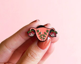 Uterus Enamel Pin Feminist Enamel Pin- Blooming Uterus Feminist Gift Cuterus Women' Rights Reproductive Rights Girl Power Art Baby Shower