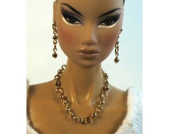14K Gold Filled Beaded Jewelry Set for Barbie, Fashion Royalty and More!