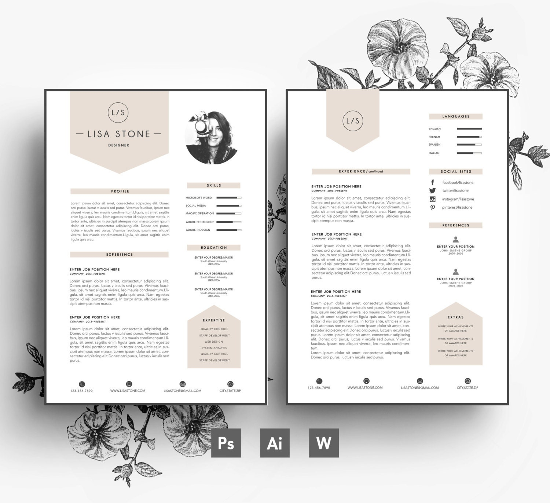 Modern template/ Business car/CV template/Cover