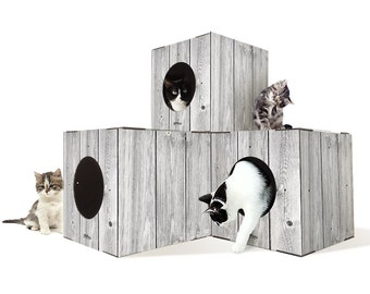 Make Your Own Cardboard Indoor Cat Tree Furniture With Steps, Diy Cat Tree Furniture with Boxes, Cat Tree Furniture With Steps,