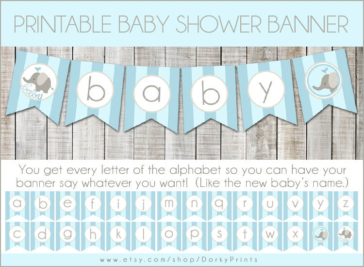 Free Printable Baby Shower Cake Bunting