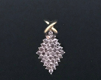 Sterling Silver Iolite Pendent