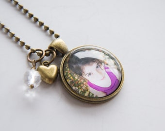 Custom Photo Necklace - Photo Pendant - Custom Photo Jewelry - New Mom Necklace - Jewelry For Grandma - Personalized Photo Necklace Keepsake