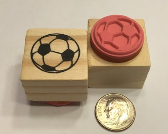 small soccer ball rubber stamp, 20 mm (BB4/3)