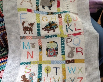 Woodland Alphabet Quilt pattern Instant Download