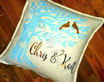 Love Birds Down Pillow