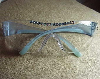 BLUE SAFETY GLASSES LadiesCrystal
