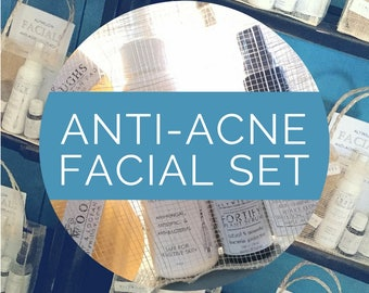 ANTI-ACNE Facial Set || made purely of therapeutic plants || for a clear complexion || reduce irritations, redness and blemishes ||