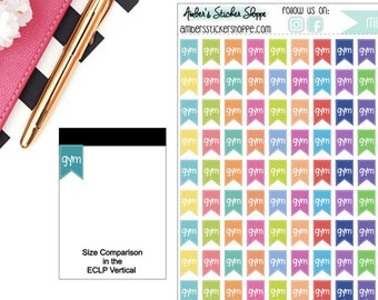 Mini Gym Flags Planner Stickers