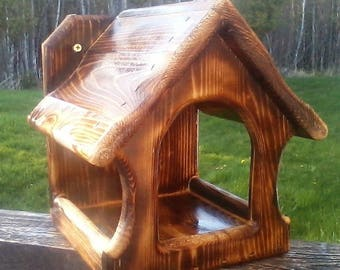 Cute square decorative, Dove or Robin cedar wood nesting shelf,TBNUP #2