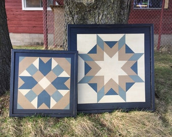 Set of 2 Barn Quilts - Mixed Set.  2' and 3' size