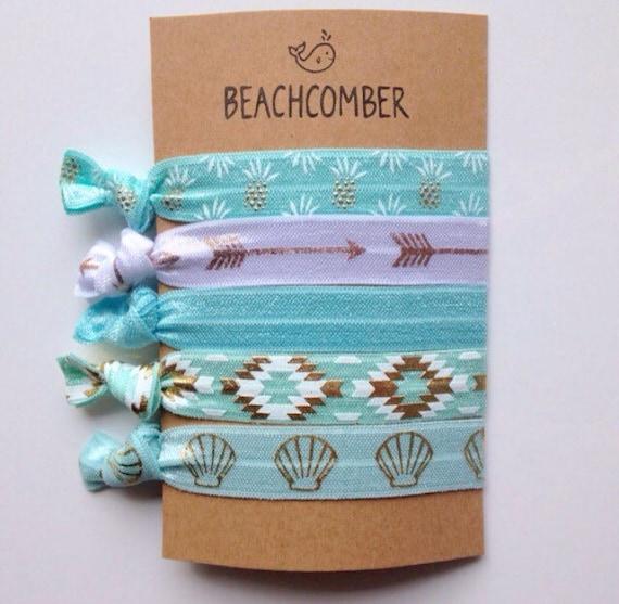 hair ties, beach bracelets, party favour, mermaid bracelets, beachy jewelry, hair accessory, friendship bracelets