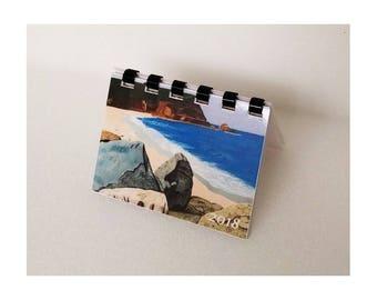 "Mini Monthly Desk - Pocket - Wallet - Calendar and planner - 3.5"" x 2.5"" - 2018 or 2019"