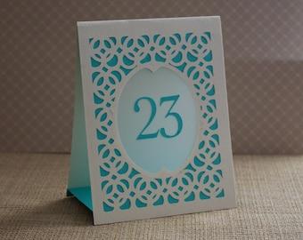 Wedding Table Numbers, Table Number Luminary, Wedding Table Markers, Table Markers, Luminary, Table Cards  - BRIDGE Style B