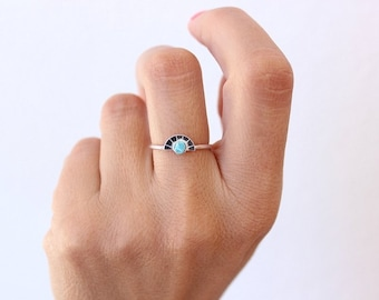 Sun Statement Ring, Turquoise Ring, Rose Gold Ring,Statement Ring, December birthstone, Sister Gift,Girfriend Gift,Gift for her, Raw, Boho