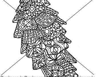 Pine Cone Zentangle Coloring Page