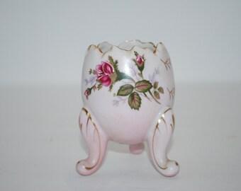 Vintage Egg Fine Porcelain Hand Painted NAPCOWARE Egg Vase
