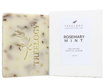 Rosemary Mint Organic Soap | Natural Soap | Natural Lemongrass Peppermint Essential Oils Organic | Lightly Rosemary Scent