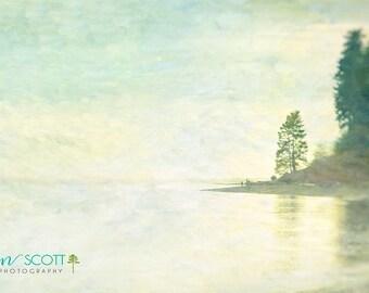 Pacific Northwest Landscape Photography | Romantic Art Print | Fay Bainbridge | Bainbridge Island Art | Photo Gift | Wall Art | Green & Blue