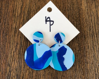 Blue Blend Statement Earrings