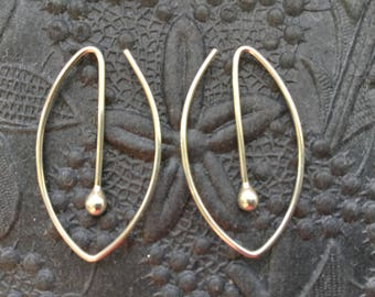 Oval Silver Hoops * Argentium Sterling Hoop Earrings * MetalRocks Original * Made in Canada * Fun Everyday Modern Unique Sleeper Hoops
