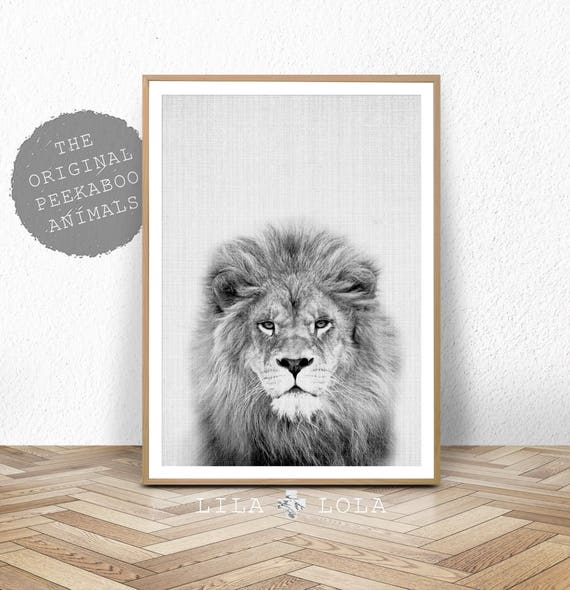 Amazing Nursery Animal Print Lion Wall Art Kids Room Poster