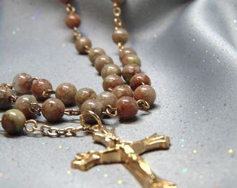 Rosary - Autumn Jasper and Gold