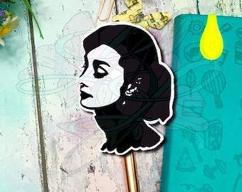 Hand Drawn Classic Audrey Silhouette Die Cut or Vinyl Decal