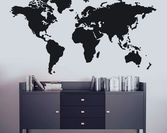Wall decal world map interactive map wall sticker room map wall art world map decal world map mural map wall decal wall decor map wall stickers map wall decor map wall sticker gumiabroncs Image collections