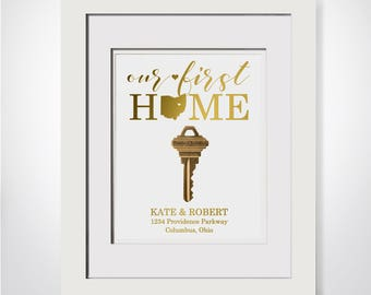 Our First House Key|Mantle Decor|Our First Home Key|Realtor Closing Gift|Last Name Signs|Our First Home Gift|Cursive Name Signs|Closing Gift