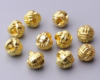 12pcs gold button 9mm spherical button metal button small button skirt button